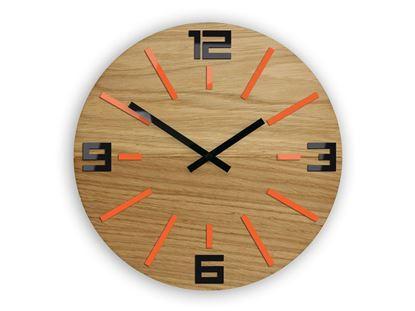 Zegar ścienny Marco Pomarańczowo - Czarny
