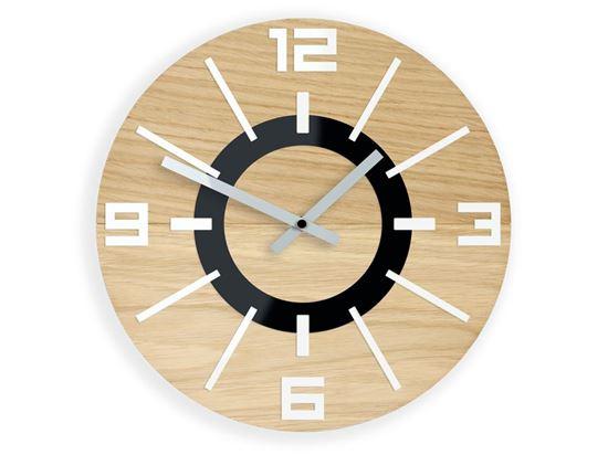 Zegar drewniany Alladyn Biały
