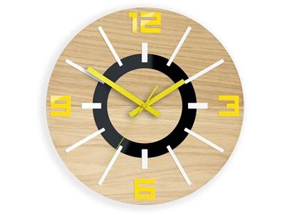 Zegar scienny Alladyn Wood Żółty