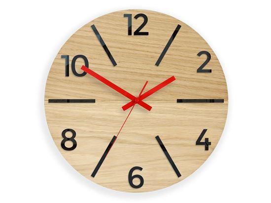 Zegar ścienny  drewniany Aksel