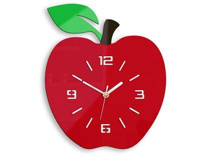 Zegar ścienny Czerwone jabłko