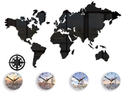 Zegar ścienny Mapa 120 x 70 nadruk tarcze