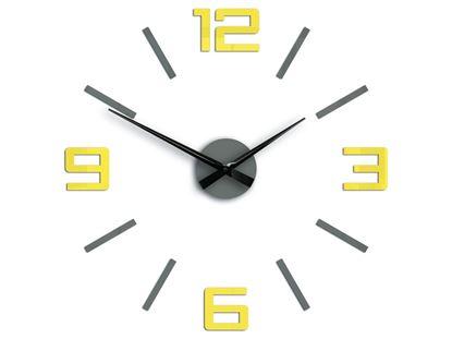Zegar ścienny Silver XL Żółto-Szary