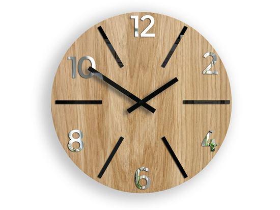 Zegar drewniany Aksel Czarno - Lustrzany