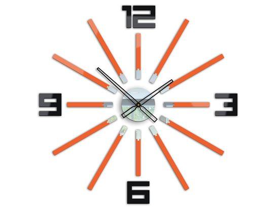 Zegar scienny Briliant Pomarańczowy