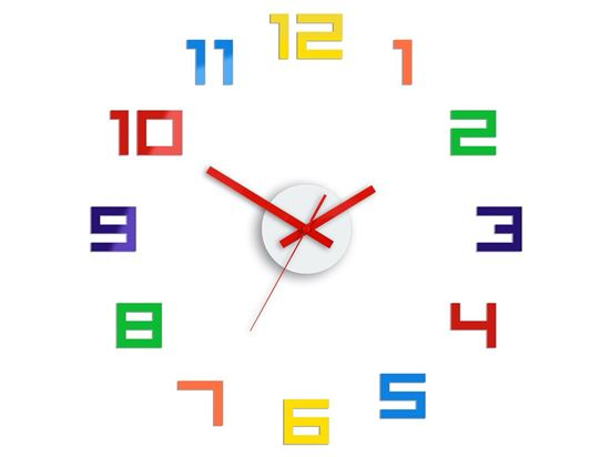 Zegar ścienny Digit kolorowy