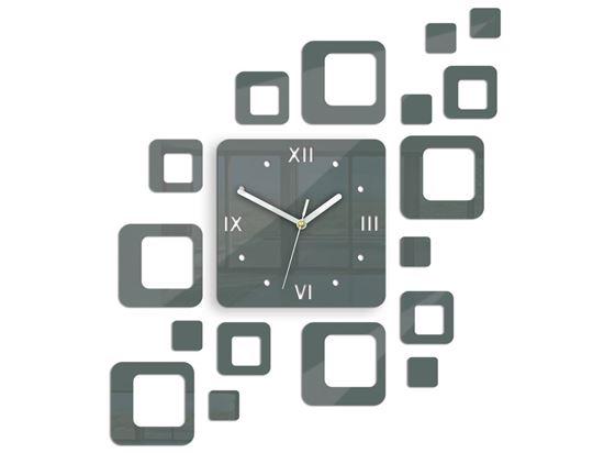 Zegar ścienny Roman szary