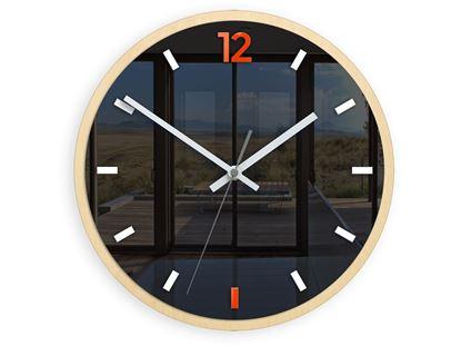 Zegar scienny Grafit Pomarańcz