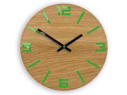 Zegar drewniany Arabik zielony