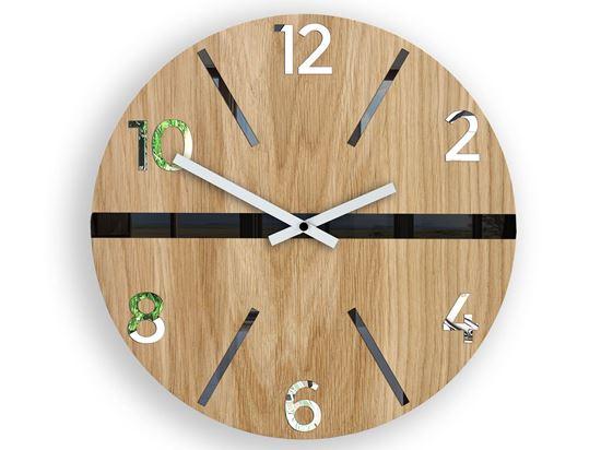 Zegar ścienny drewniany King