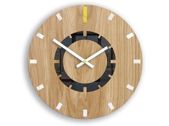 Zegar ścienny Atena Żółta