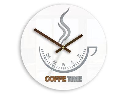 Zegar ścienny Coffee Time ver.II BIAŁA