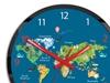 Zegar ścienny Edukacyjny Mapa Świata