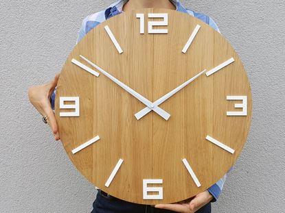 Zegar ścienny Drewniany Arabik Biały 50 cm