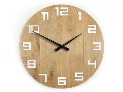 Zegar drewniany DIGIT 50 cm