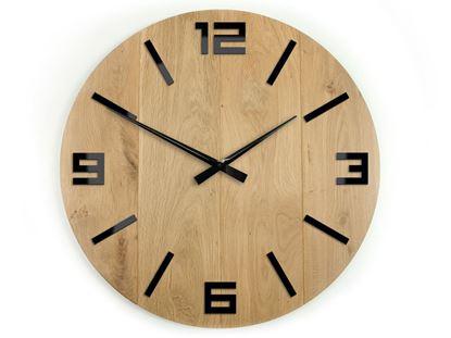 Zegar drewniany ARABIK Czarny 50 cm