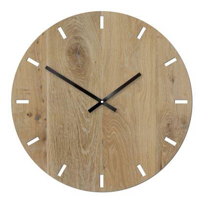 Zegar drewniany Solo Białe 50 cm