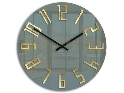 Zegar ścienny Slim akryl szary