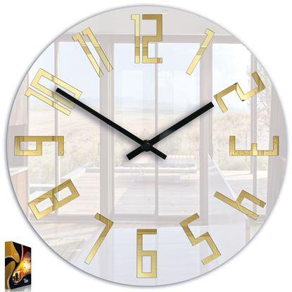 Zegar ścienny Slim akryl_ złote cyfry