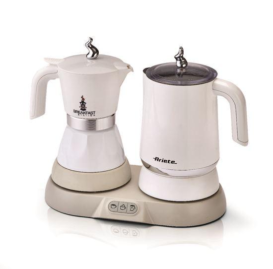 Urządzenie 3 W 1 (Stacja Śniadaniowa): parzenie kawy, herbaty, spienianie mleka Ariete 1344
