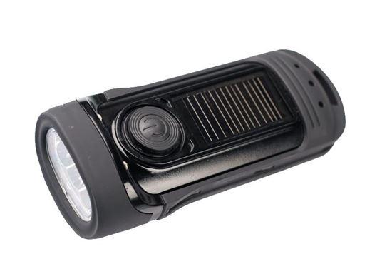 POWERplus Barracuda - wodoszczelna latarka LED zasilana solarnie i na dynamo