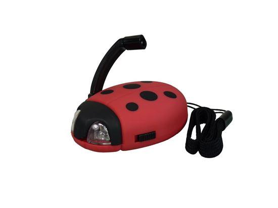 POWERplus Ladybug - latarka brelok LED na dynamo Biedronka