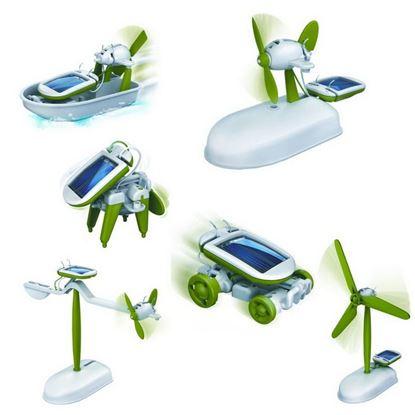 POWERplus Chameleon - Zabawka 6 zasilanych solarnie modeli w 1 zestawie