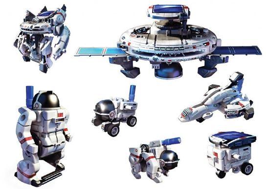POWERplus Space Explorer - zestaw 7 kosmicznych modeli zabawek solarnych w 1 opakowaniu