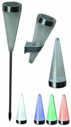 POWERplus Flamingo - ogrodowa lampa solarna LED 3w1 ze stali nierdzewnej
