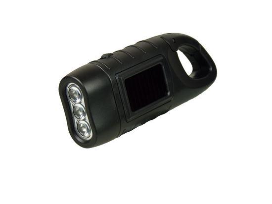 POWERplus Seahorse - latarka LED zasilana ogniwem słonecznym i na dynamo