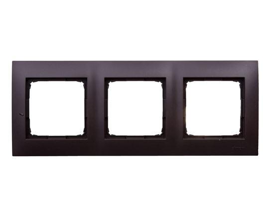 Simon 54 Premium Ramka potrójna brąz mat /do karton-gips/ DRK3/46