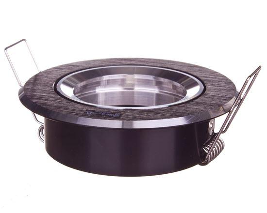 Oprawa punktowa 1x50W GX5,3 IIIkl. 12V IP20 GWEN CT-DTO50-B czarne aluminium 18531