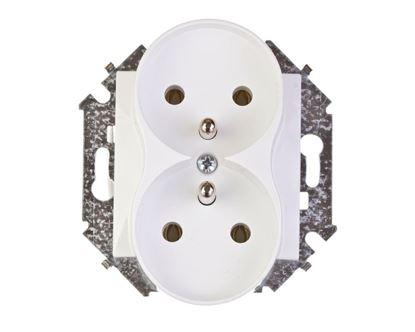 Simon 15 Gniazdo podwójne z/u 16A IP20 białe 1591462-030
