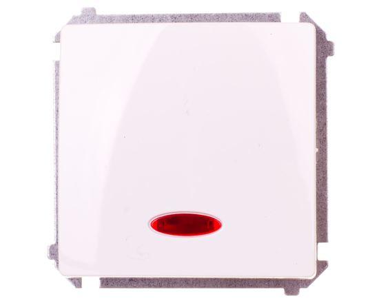Simon Basic Przycisk pojedynczy zwierny z podświetleniem biały BMP1L.01/11