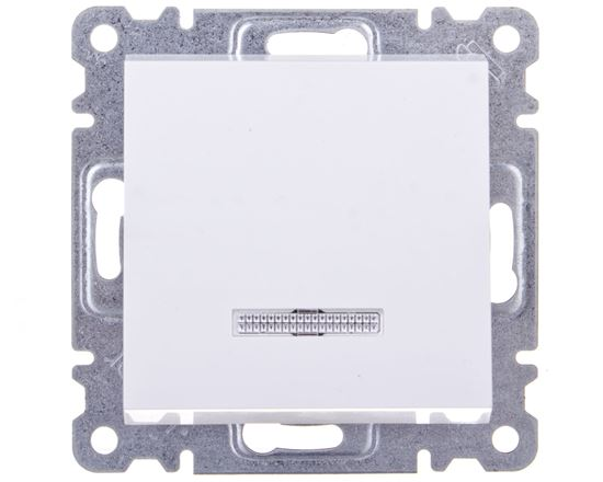 LUMINA2 Łącznik pojedynczy podświetlany biały WL0210