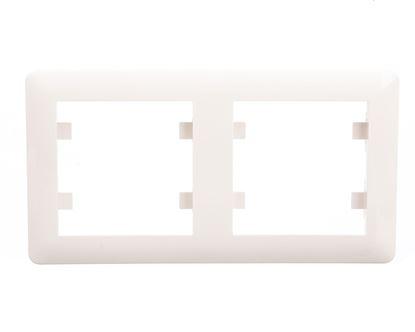 LUMINA2 Ramka podwójna pozioma kremowa WL5221