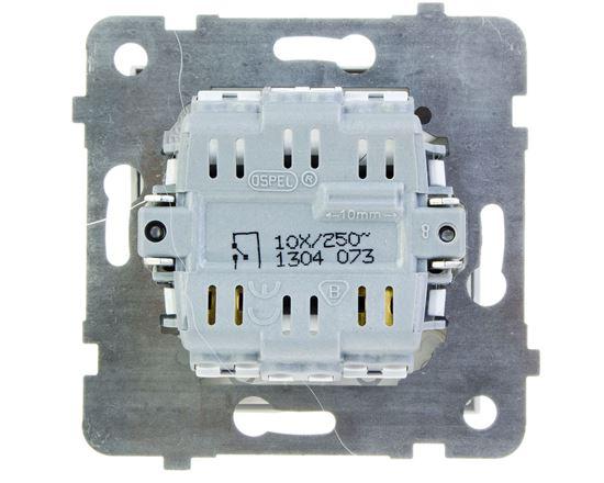 AS Przycisk /światło/ z podświetleniem biały ŁP-5GS/m/00