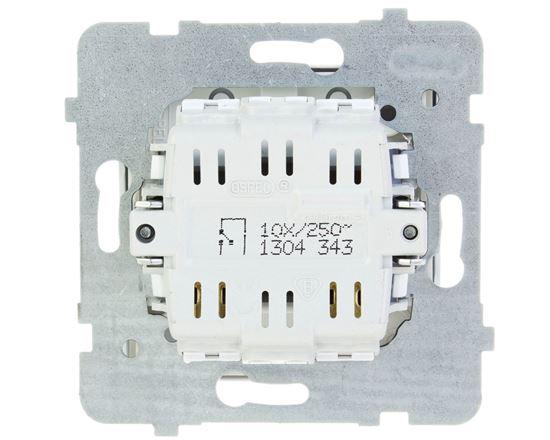 AS Przycisk /dzwonek/ z podświetleniem biały ŁP-6GS/m/00