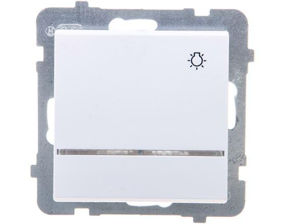 SONATA Przycisk /światło/ z podświetleniem biały ŁP-5RS/m/00