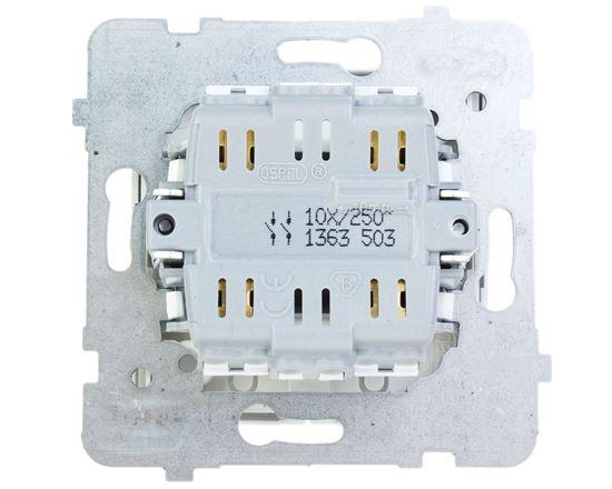AS Przycisk podwójny zwierny biały ŁP-17G/m/00