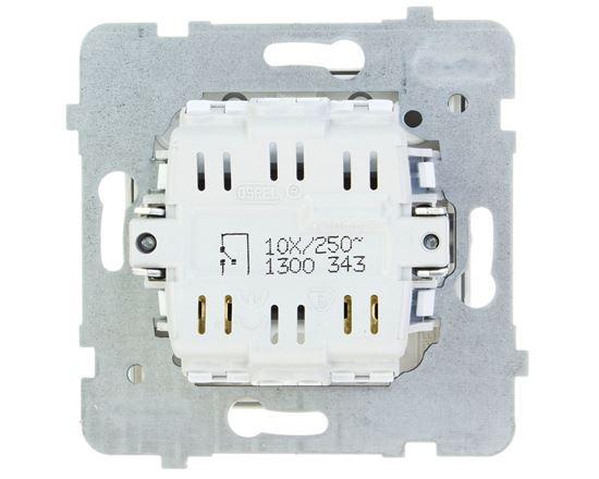 AS Łącznik pojedynczy z podświetleniem biały ŁP-1GS/m/00