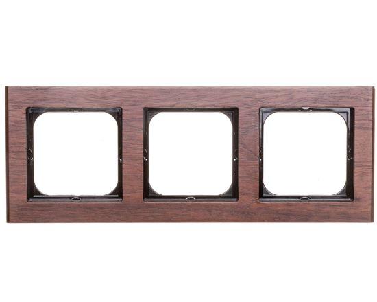 SONATA Ramka potrójna drewno orzech R-3RW/34