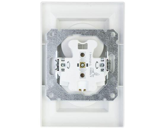 ASFORA Gniazdo podwójne z/u białe EPH9800221