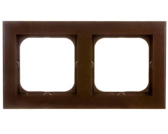 SONATA Ramka podwójna czekoladowy metalik R-2R/40