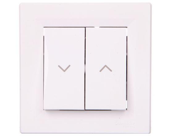 ASFORA Przycisk żaluzjowy zaciski bezgwintowe biały  EPH1300321
