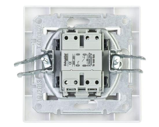 ASFORA Łącznik pojedynczy z podświetleniem zaciski śrubowe biały EPH1400321