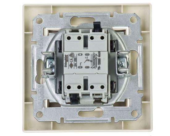 ASFORA Przycisk światło z podświetleniem kremowy EPH1800123
