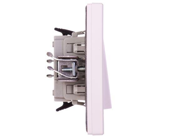 ASFORA Łącznik bryzgoszczelny pojedynczy IP44 biały EPH0100221