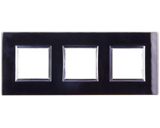 DANTE Ramka potrójna szkło BLACK GLASS 4509183
