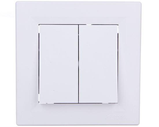 ASFORA Łącznik podwójny schodowy biały  EPH0600121